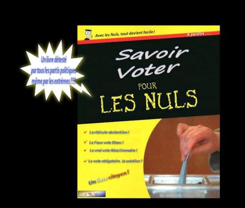 société,france,élections,politique,vote,blanc,nul,nuls,abstention,électeurs,droite,gauche,extrémes,livre,bouquin,collection,image,fake,humour,gag,drôle,blagues