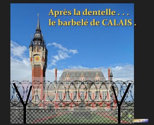 Monde,France,Angletere,Calais,immigration,migrants,sécurité, aide, blague,dentelle,barbelé,fake,image,humour,photo,foto,gouvernement,macron,May,