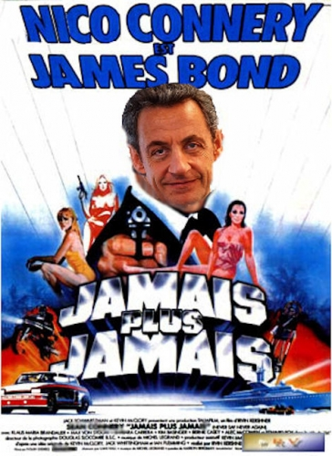 Monde,France,politique,droite,gauche,ump,sarkozy,bond,james bond,gag,fake,humour,photo,image,